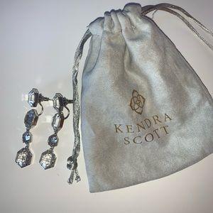 Silver Kendra Scott Stud and Dangly Earrings